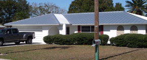 Gibson & Sons Inc. Standing seam metal roofing services.